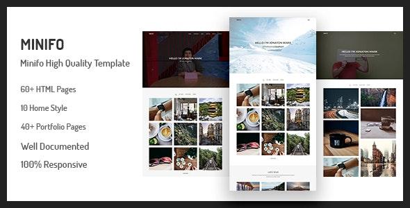 Minifo - Minimal Portfolio HTML Template - Portfolio Creative