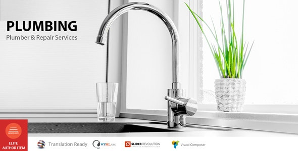 Plumbing – Plumber, Repair services WP Theme - Business Corporate