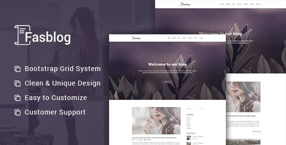 FasBlog - Blog PSD Template - Photoshop UI Templates