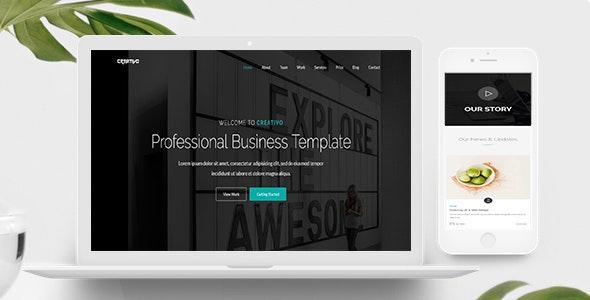 Creativo - One Page Parallax - Creative Site Templates