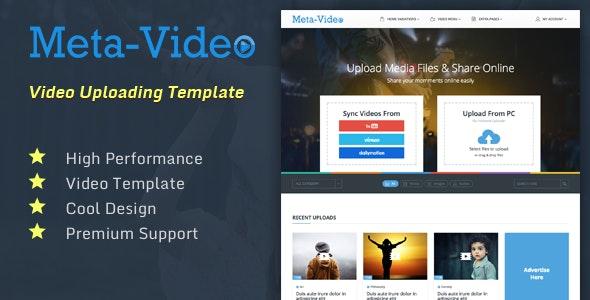 Meta Video | Photo/Video/Audio Uploading Social HTML Template - Entertainment Site Templates