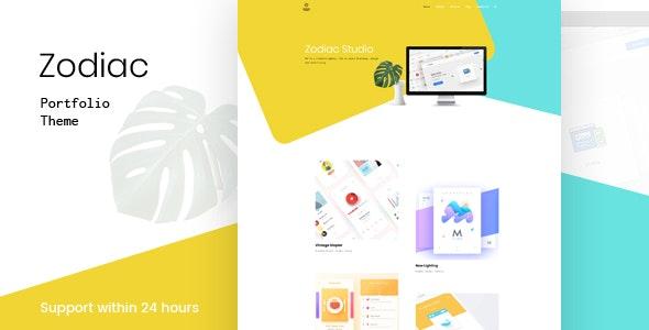 Zodiac- Creative Portfolio WordPress Theme - Portfolio Creative