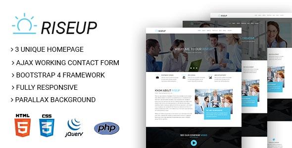 RiseUp - Multipurpose Business And Corporate HTML5 Template - Corporate Site Templates