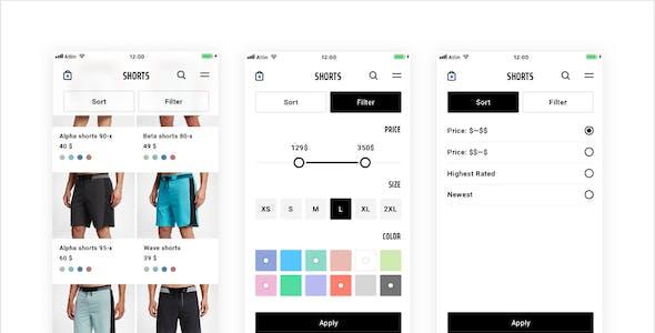 Atlin 3.1 — e-commerce mobile UI Kit