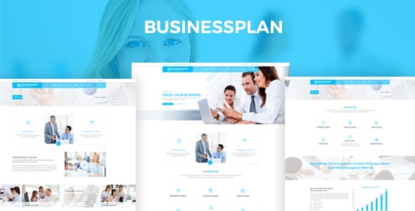 Businessplan – Training, Coaching, Consulting & Business PSD Template - Business Corporate