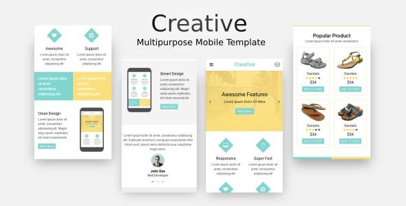 Creative - Multi-Purpose Mobile Template - Mobile Site Templates