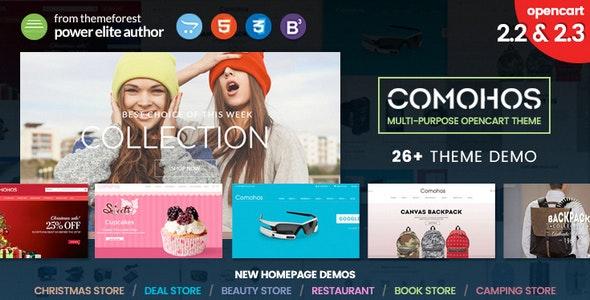 Comohos - Multipurpose Responsive Premium OpenCart 2.2 - 2.3 Theme with 28+ Unique Designs - Fashion OpenCart