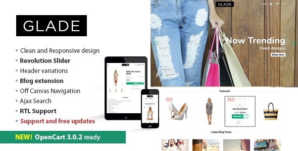 Glade - Responsive OpenCart Theme - Shopping OpenCart