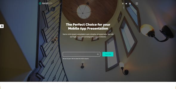 RaiseApp - Responsive UI Kit & Multipurpose Website Template