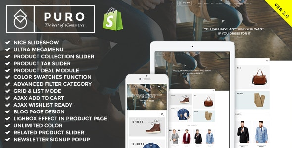 Puro -  Responsive Shopify Theme (Sections Ready) - Shopify eCommerce