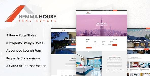 Hemma - Real Estate PSD Template - Photoshop UI Templates