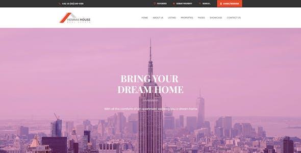 Hemma - Real Estate PSD Template