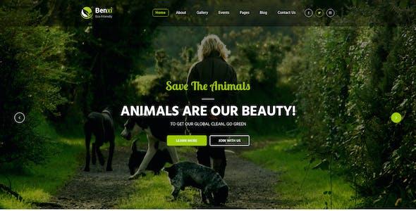 Benxi : Go Green PSD Template