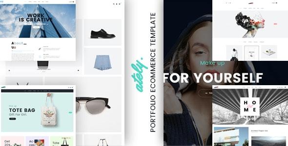 Ately - Portfolio & eCommerce HTML Template - Portfolio Creative