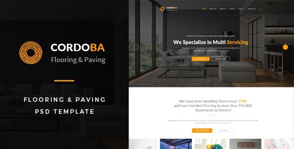 Cordoba : Flooring & Paving PSD Template - Business Corporate