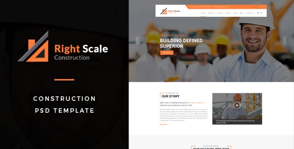 Rightscale : Construction PSD Template - Business Corporate