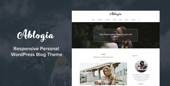 Ablogia - Responsive WordPress Blog Theme - Personal Blog / Magazine