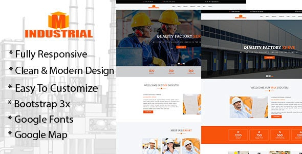 Mx-Industrial Industrial & Business HTML 5 Template - Business Corporate