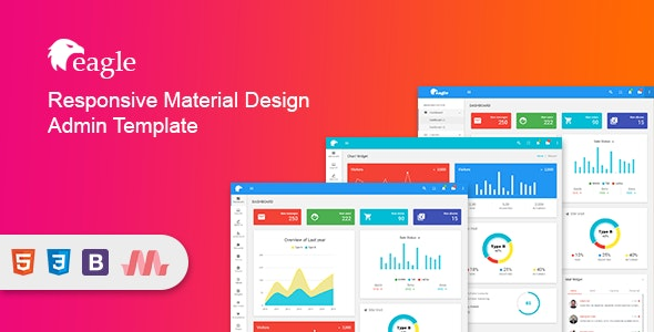 Eagle - Material+ Bootstrap Admin Template - Admin Templates Site Templates