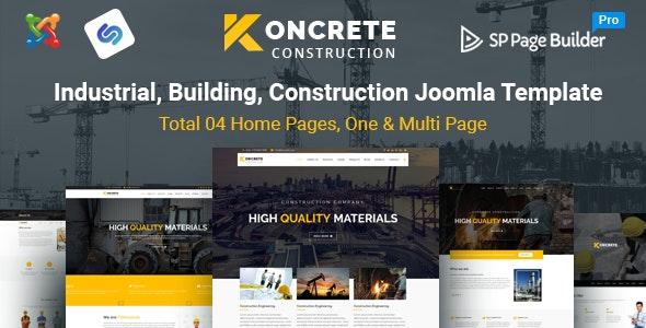 Koncrete - Construction Business Joomla Template - Business Corporate