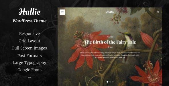 Hallie - WordPress Theme for Writers