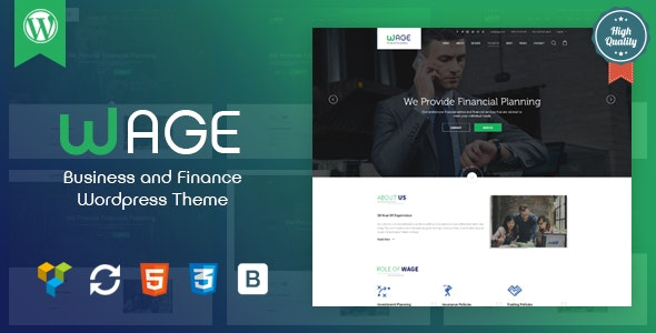 Wage - Business and Finance WordPress Theme - Business Corporate
