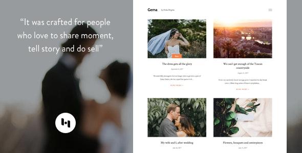 Gema: Theme for Photoblogger - Blogger Blogging
