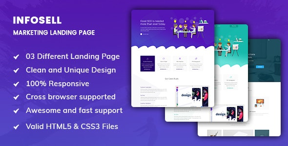 Infosell - Marketing  HTML5 Template - Marketing Corporate