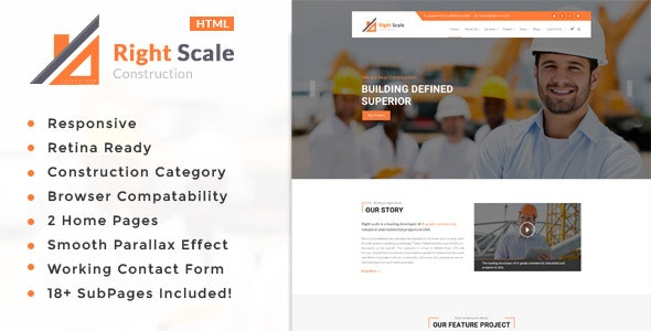 Right Scale - Construction Business HTML Template - Business Corporate