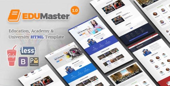 EduMaster - Education HTML Template - Nonprofit Site Templates