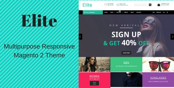 Elite - Fashion Store Responsive Magento 2 Theme