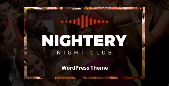 Nightery - Night Club  WordPress Theme - Nightlife Entertainment