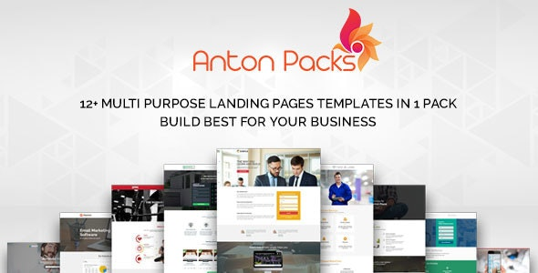 Anton Marketing Landing Unbounce Template Pack - Unbounce Landing Pages Marketing