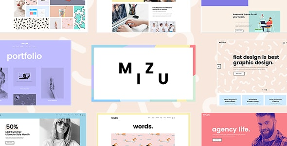 Mizu - A Theme for Design Agencies and Creative Studios - Creative WordPress