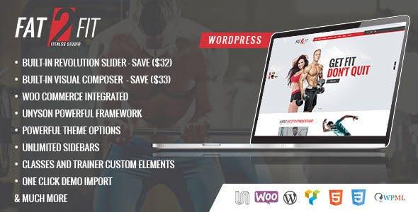 Gym & Fit - Fitness Centers, Fitness Gym WordPress Theme