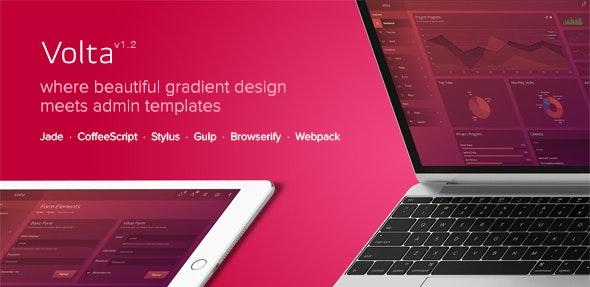 Volta - Futuristic Web Application and Admin Dashboard - Admin Templates Site Templates