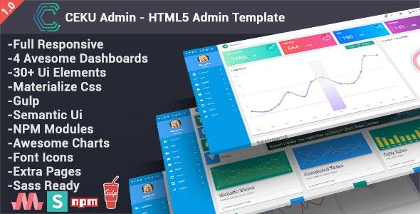 CEKU - Material Design Admin Template - Admin Templates Site Templates