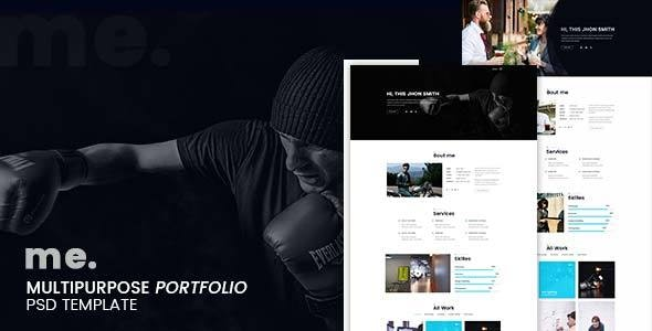 me - multipurpose portfolio psd template - Portfolio Creative