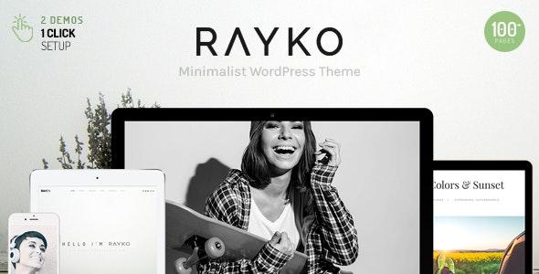 Rayko - Minimal Multi-Concept WordPress Theme - Creative WordPress