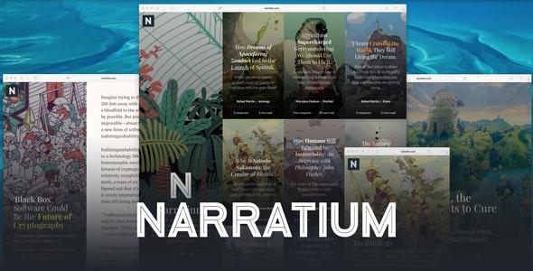 Narratium - Simplicity for authors - Blog / Magazine WordPress