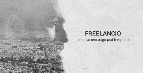 Freelancio - Creative One Page PSD Template - Creative Photoshop