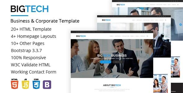 BigTech-Business & Corporate Template - Corporate Site Templates