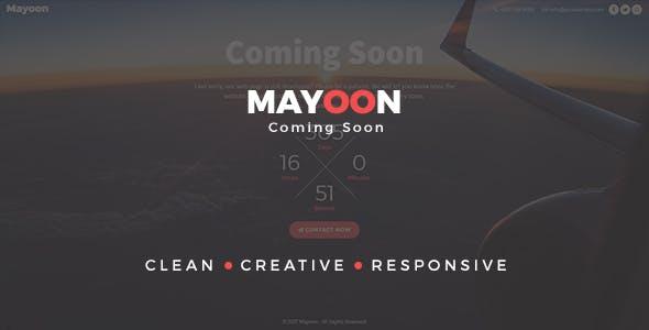 Mayoon - Clean & Responsive Coming Soon Template