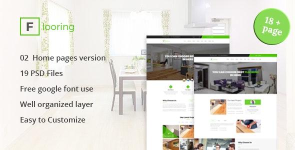 Flooring -  Floor Repair / Refinish Psd Template - Photoshop UI Templates