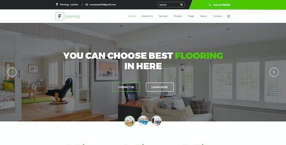 Flooring -  Floor Repair / Refinish Psd Template