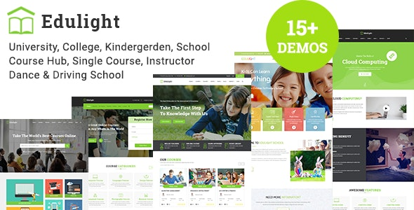 EduLight - Multipurpose Education Template - Corporate Site Templates