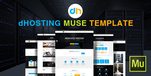 dHosting - Muse Template - Corporate Muse Templates