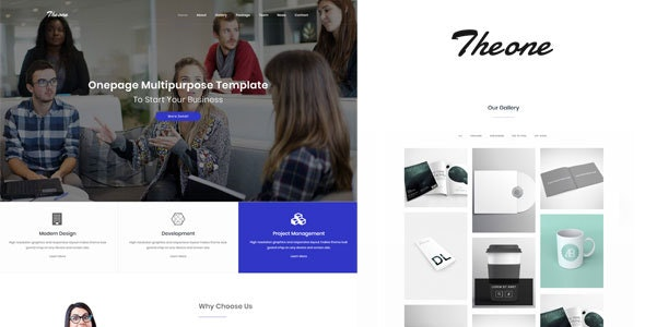 Theone - Onepage Multiporpose Template - Portfolio Creative