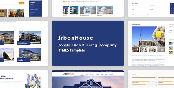 UrbanHouse - Construction Renovation HTML5 Template + SASS - Business Corporate