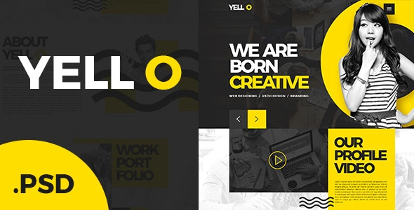 Yell O - Single page Website - PSD Template - Business Corporate